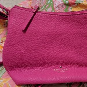 Hot Pink Kate Spade Leather Bag